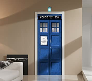 Doctor Who TARDIS Repositionable Door or Wall Decal Sticker Graphic-USA  Seller