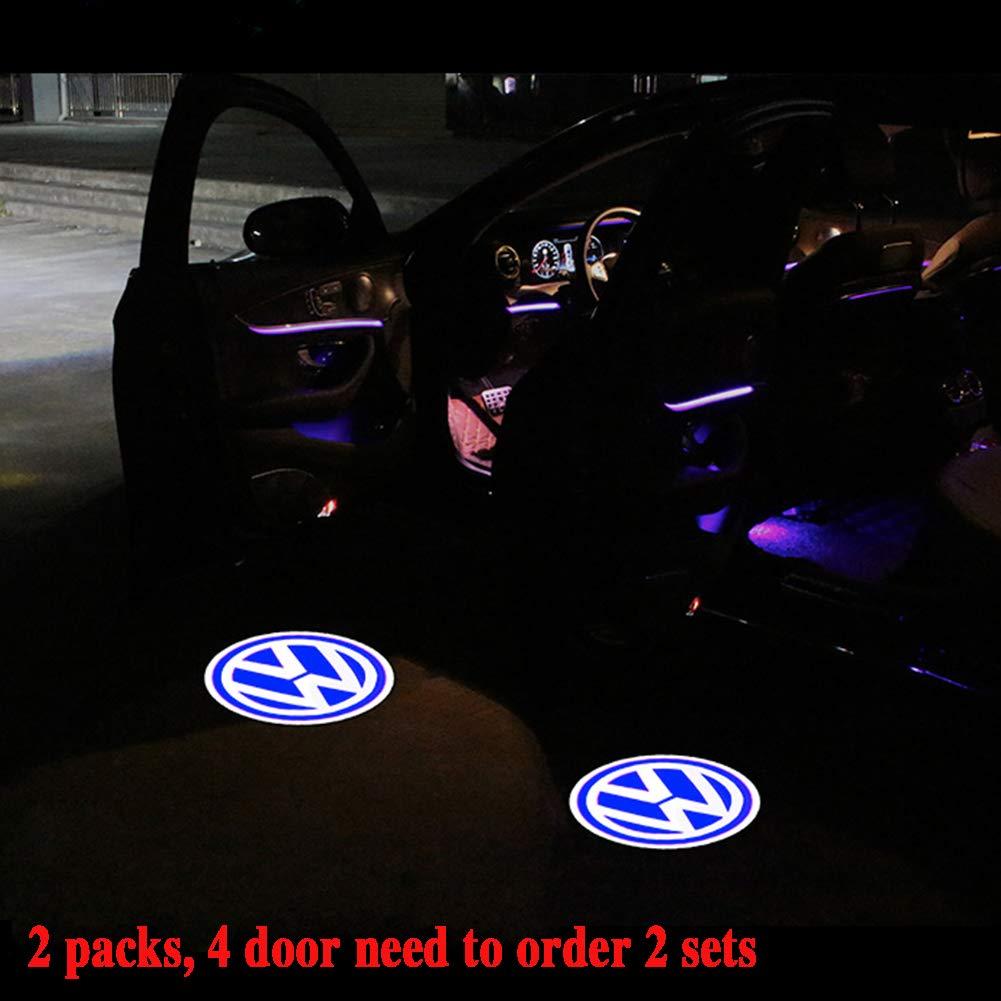 LED Symbol Begr/ü/ßungslicht T/ür Logo Projektor Lampe Boden Ghost Shadow Lights T/ürwarnlicht 2er Pack