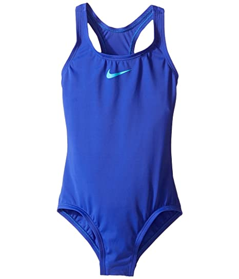 8ff54fb8cc Amazon.com  Nike Girls Stretch Signature One-Piece Swimsuit Purple 8 ...