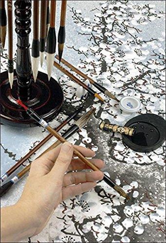 Golden Panda Master Quality Chinese Calligraphy Paint Brush Set 18 Master Quality Chinese Calligraphy Brushes - [Set of 18] by Golden Panda (Image #2)