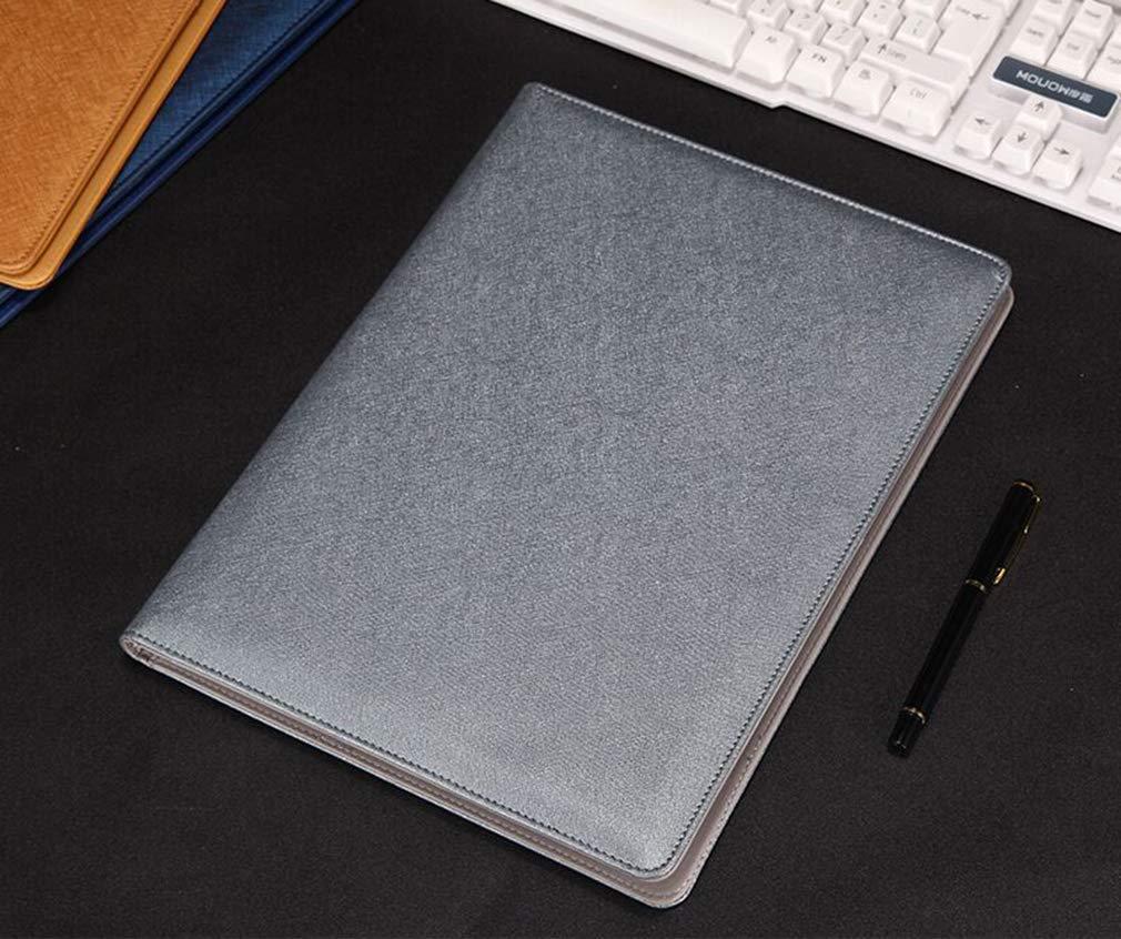 junkai Konferenzmappe A4 Ordner Zwischenablage Office Organizer und 12-stellige Rechner Portfolio PU Leder Dokumententasche Tasche Datei Organizer Kartenhalter