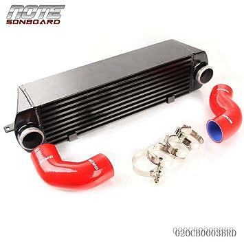 Para Bmw 135 135i 335 335i E90 E92 2007 - 2010 N54 Twin Turbo Intercooler Kit rojo: Amazon.es: Coche y moto