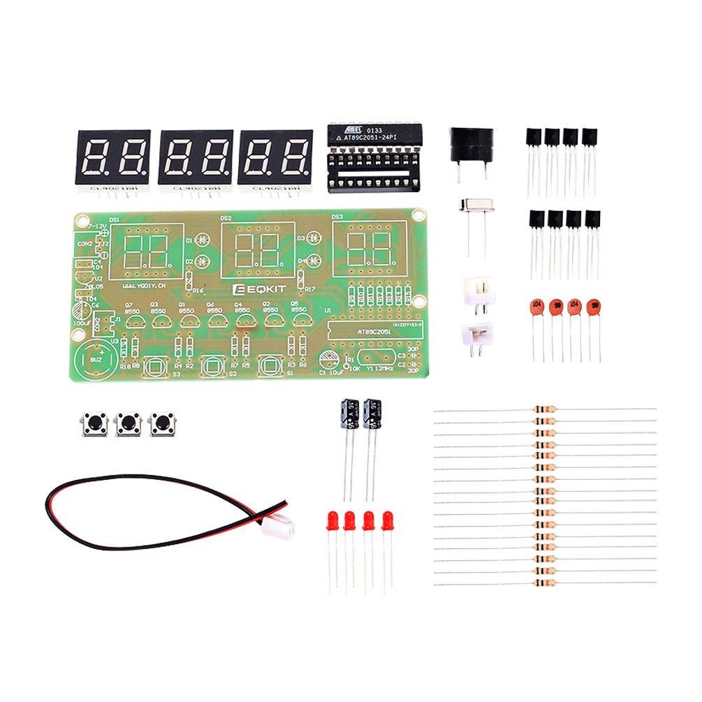 Whdts C51 6 Bits Diy Digital Electronic Clock Kit Ledclockcircuitboard2jpg At89c2051 Chip Alarm Soldering Practice Learning Kits Toys Games