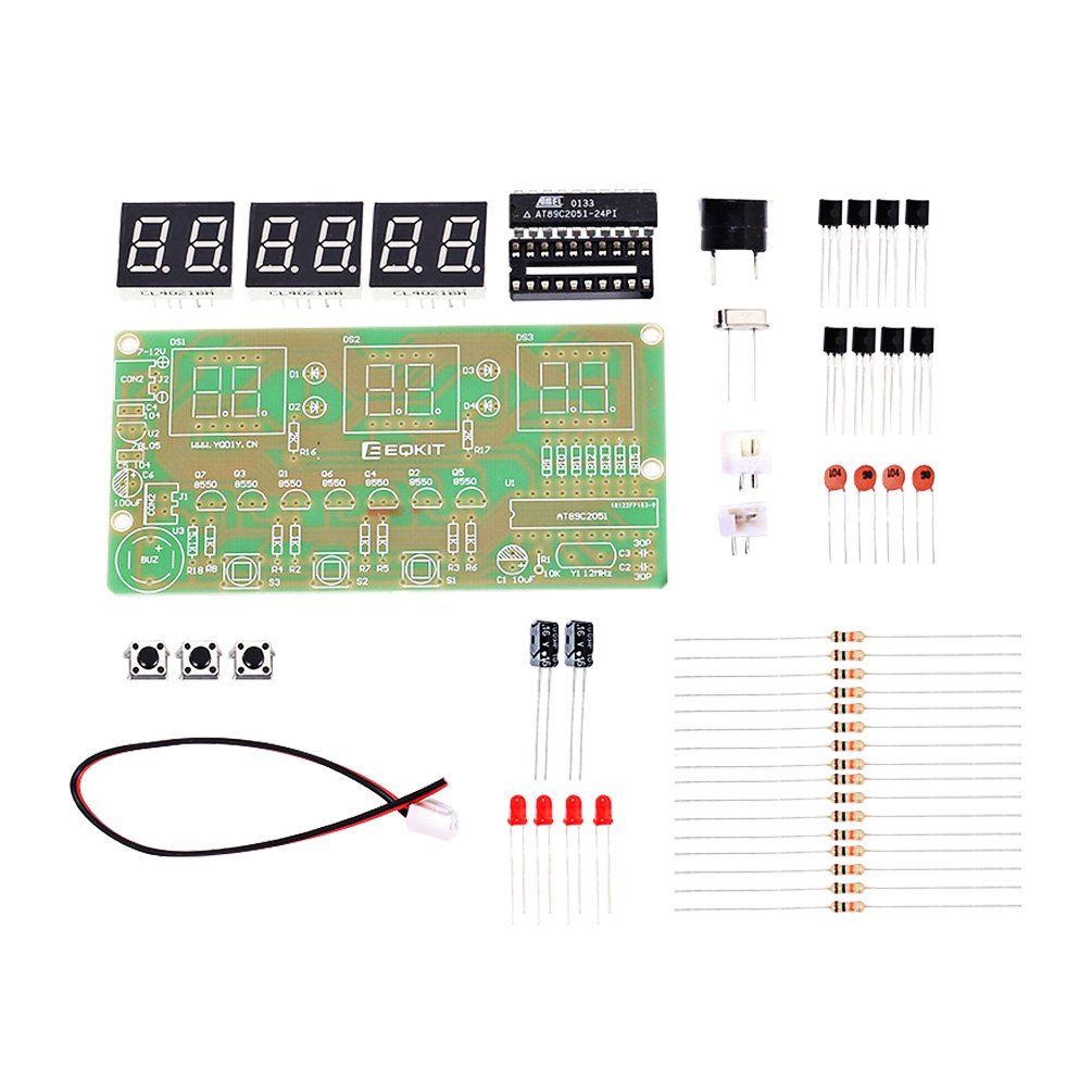 Whdts C51 6 Bits Diy Digital Electronic Clock Kit At89c2051 Chip Amazoncom Snap Circuits Sc300 Electronics Discovery Toys Alarm Soldering Practice