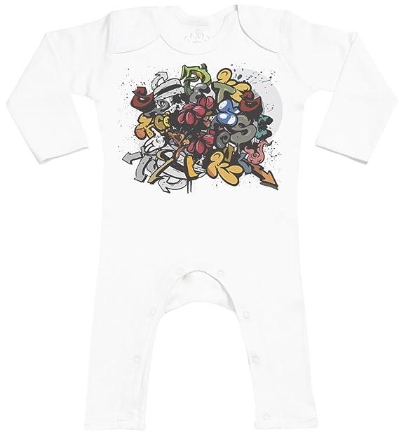 Graffiti Footless - peleles para bebé - peleles para bebé niño - peleles para bebé niña: Amazon.es: Ropa y accesorios