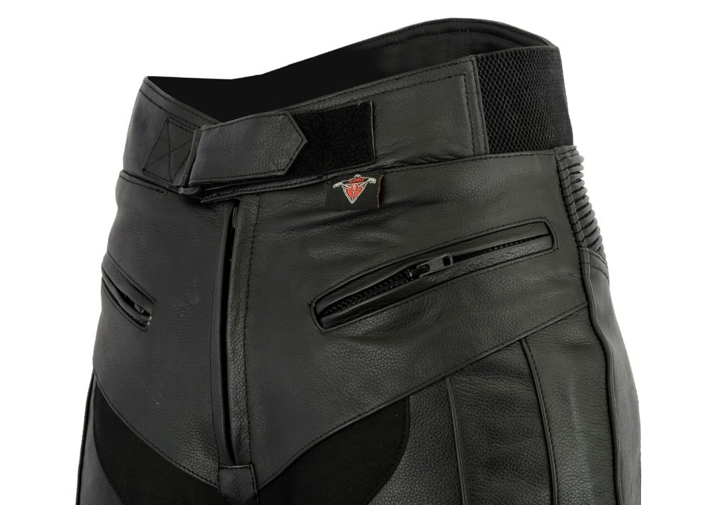 All Sizes Texpeed Mens RS Sports Leather Motorcycle Trousers With Removable Armour