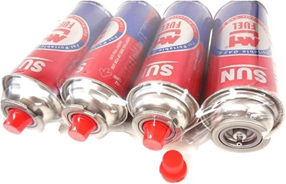 4 latas de Gas butano contenedor de Gas para Camping Gas portátil estufa