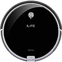 ILIFE A6 Saugroboter | automatischer Staubsauger Roboter | Lamellen-Bürste für Tierhaare | Fallschutz | Raumtrennungs-Sensor | 72mm flach | Bis zu 160min. staubsaugen | Beutellos | mit Ladestation