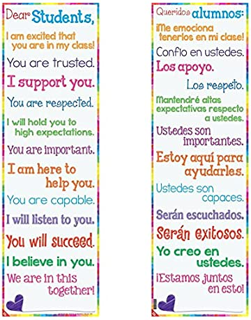 Really Good Stuff Dear Students Two-Sided Banner - English/Spanish