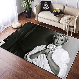 Coobal Marilyn Monroe Home Decoration Large Rug Floor Carpet Yoga Mat, Custom Rug for Children Kid Playroom Bedroom 4x6 Foot(122cmx182cm)