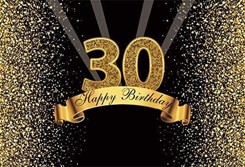 GzHQ Telón Fondo Feliz cumpleaños 10x8 pies Brillo Vinilo ...