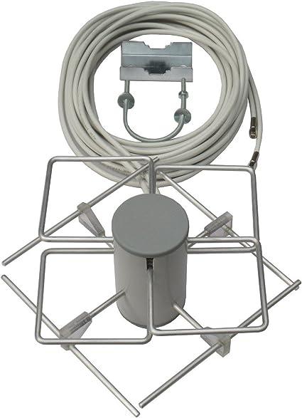 Prueba Sieger (3) en 12/2013 Televisión Digital LTE800 Dual de biquad MIMO de antena, incluido. 5 m TWIN de cable y soporte para mástil