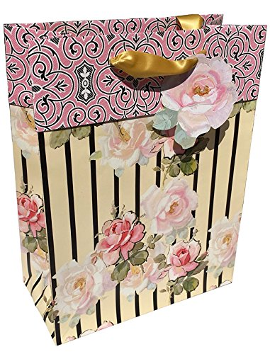 Anna Griffin Small Deluxe Gift Bag with Coordinating Gift Tag, Eleanor from the Grace Collection (GB366)