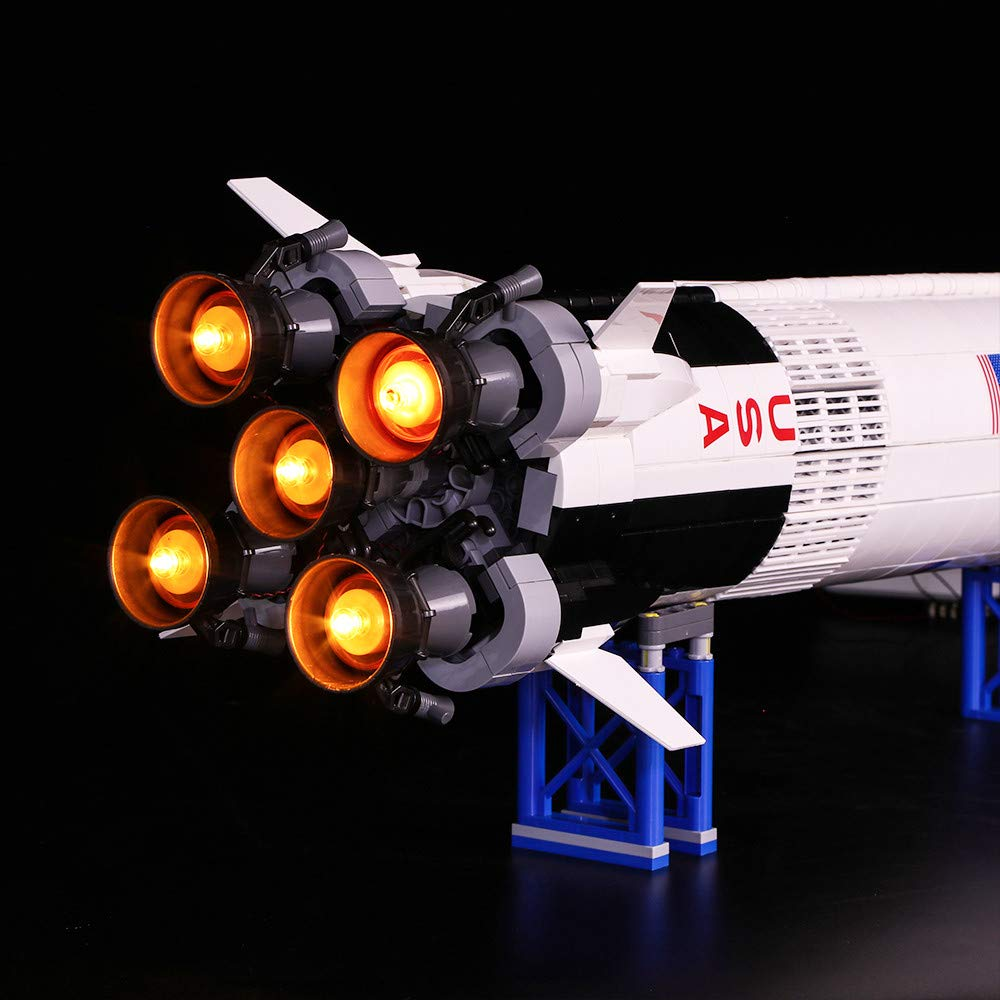 Not Include Lego Set Vonado Lighting Kit for Creative The Apollo Saturn V Launch Vehicle Building Blocks,Compatible Lego 21309 Building Kit Toys Christmas,Halloween,Birthday Gift