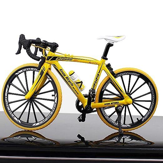 NZNNXN Bicicleta Modelo decoración Mini Bicicleta Modelo Metal ...