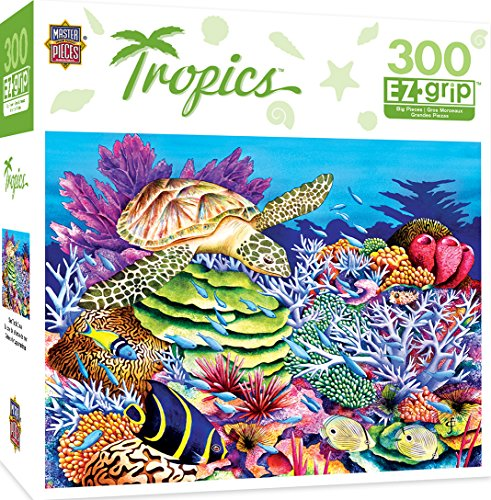 MasterPieces Tropics Sea Turtle Cove Large 300 Piece EZ Grip Jigsaw Puzzle by Carolyn Steele by MasterPieces