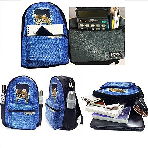 FOR U DESIGNS Whistling Wolf School Shoulder Backpacks Kid's Teen Boys Girls Bookbags Pencilcase Lunchbox 3 Picec/Set by FOR U DESIGNS (Image #3)