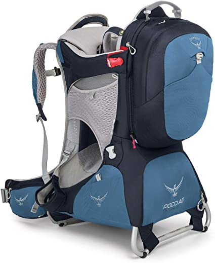 Daypack phil/&teds Escape Child Carrier Frame Backpack Includes Hood Height Adjustable Body-Tech Harness 2 Year Guarantee 30L Storage Charcoal Change Mat Articulating Dual Core Waist Belt