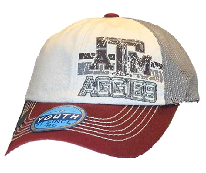 the latest d57de 1fb0e Image Unavailable. Image not available for. Color  Texas A M Aggies Top of  the World Youth Maroon Gray Mesh Snapback Hat Cap