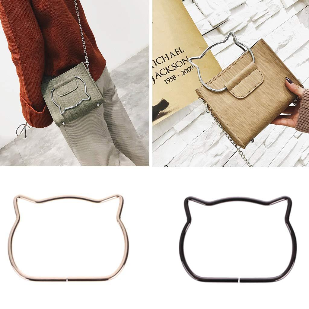 Exing Taschenhenkel Taschenb/ügel Taschengriffe Metall F/ür Tasche Handtaschen Handtasche Niedliche Katze Ohr