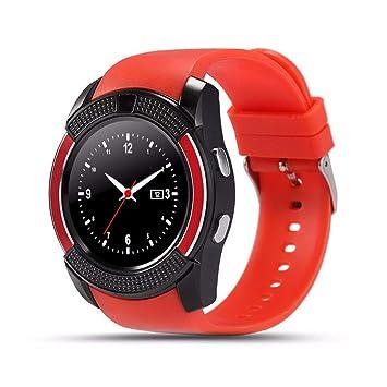 CatShin Reloj para teléfono Inteligente con Ranura para Tarjeta SIM, Reloj Bluetooth Smart Dial, Reloj con podómetro para Monitor de sueño, Monitor de ...