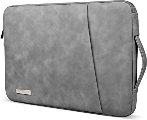 RISETECH 13-13.3 Inch Laptop Sleeve with Handle Waterproof PU Leather Soft Cover Case Notebook Bag for 2018 2019 MacBook Air, 2020 MacBook Pro, iPad Pro, Microsoft Surface, Samsung, Lenovo, Dell, ASUS