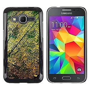 "Pulsar Snap-on Series Teléfono Carcasa Funda Case Caso para Samsung Galaxy Core Prime / SM-G360 , Vista aérea Fotografía Amarillo"""