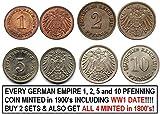 DE 1915 SET OF EVERY GERMAN EMPIRE 1%2C