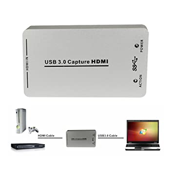 MoPei Capturadora de video HDMI, HDMI a USB 3.0 Dispositivo ...