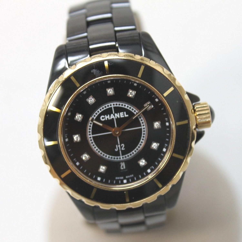 (シャネル) CHANEL H2543 J12 11Pダイヤ 腕時計 ブラックセラミック/K18ピンクゴールド レディース 中古 B079NDV976