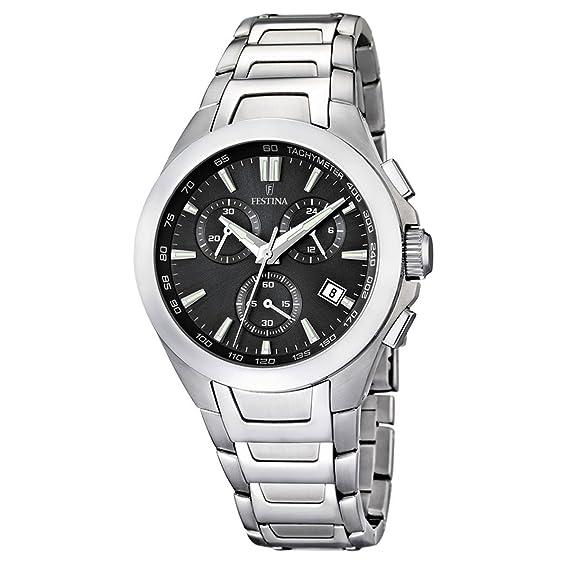 FESTINA F16678/3 - Reloj cronógrafo de cuarzo para hombre con correa de acero inoxidable