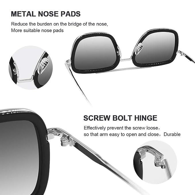Amazon.com: Gafas de sol clásicas de Aviator cuadradas para ...