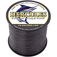 Hercules Cost-Effective Super Strong 4 Strands Braided Fishing Line 6LB to 100LB Test for Salt-Water, 1094 Yards 1000M, Diameter 0.08MM - 0.55MM, Hi-Grade Performance, Variety Colors