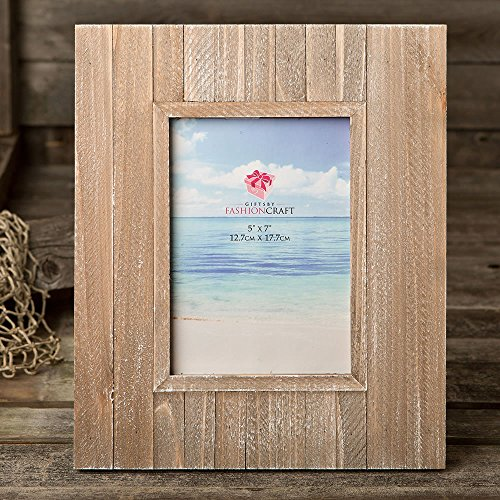 17 Distressed Wood Wide Border 5x7 Frames by Fashioncraft