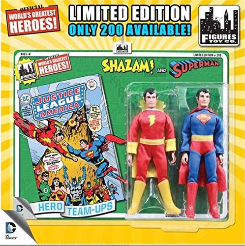 "DC Superman World's Greatest Super Heroes Retro Two-Pack Series 1 Superman & Shazam 8"" Action Figure 2-Pack"