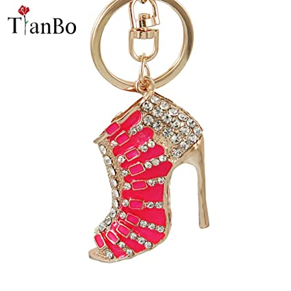 Image Unavailable. Image not available for. Color  Key Chains - Women  Crystal Rose High Heeled Rhinestone Keychain ... cb618a06218e