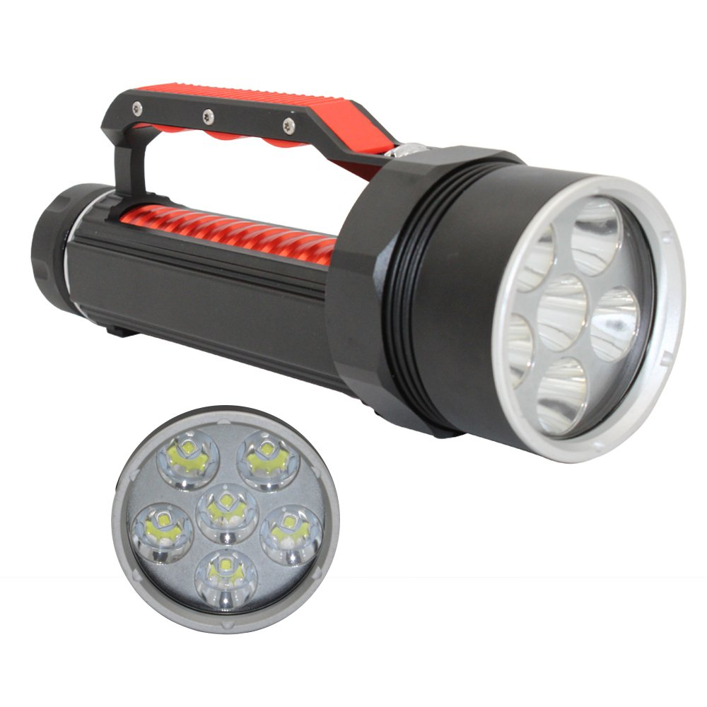 Professional Scuba Diving Lights Torch, KC Fire 395nm UV Ultraviolet Light Diving Flashlight, Batteries and Charger Included