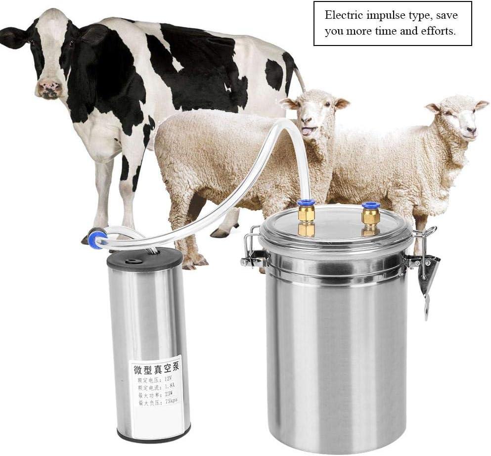 Smandy Machine /à Traire en Acier Inoxydable Tire-Lait /Électrique Pompes Milker /Électrique avec 2L Bouteille De Lait /Équipement pour B/étail Laitier Vache Moutons Ch/èvre Vache