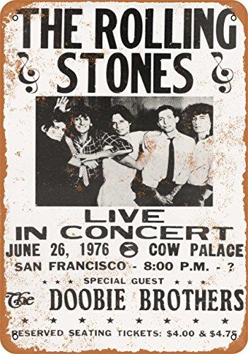 Wall-Color 7 x 10 Metal Sign - 1976 Rolling Stones in San Francisco - Vintage Look