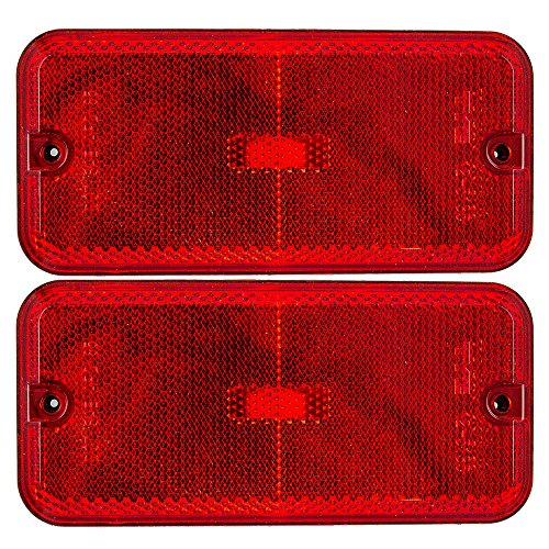 Pair of Rear Signal Side Marker Lights Lamps Replacement for Chevrolet GMC Van 5977809 AutoAndArt ()