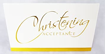 Christening Day Acceptance Card Invitation Reply Attendance