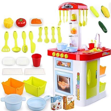 Huangyingui 36 Piezas Juego Cocina Simulacion Plastica Cocina Cocina