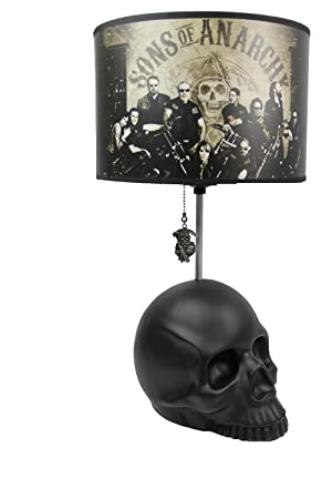 Sons Of Anarchy Skull Table Lamp Amazonde Spielzeug