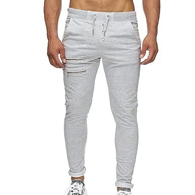 CIELLTE Pantalons Pantalon Longs Homme de Sport Sarouel Jeans Automne Hiver  Trousers Skinny Quotidien Couleur Unie 7c52398bed94