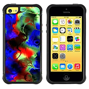 Suave TPU GEL Carcasa Funda Silicona Blando Estuche Caso de protección (para) Apple Iphone 5C / CECELL Phone case / / Abstract Psychedelic Colors /