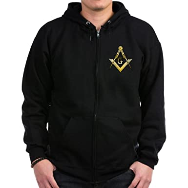badf9ccb CafePress - Masonic Zip Hoodie (dark) - Zip Hoodie, Classic Hooded  Sweatshirt with