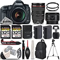 Canon EOS 5D Mark III DSLR + Canon 24-105mm f/4L IS USM Lens + Canon 50mm 1.8 II Lens + Backup Battery + 2 Of 32GB Memory Card. All Original Accessories Included - International Version