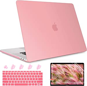 May Chen MacBook Air 13 Inch Case 2020 2019 2018 Release A2179 A1932, Matte Clear Plastic See Through Hard Shell Case Compatible with MacBook Air 13 with Retina Display and Touch Id, Pink