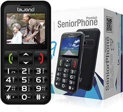 Biwond S9 Dual SIM SeniorPhone (Botones y Pantalla Grandes ...