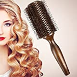 BESTOOL Round Hair Brush with Boar Bristle and Nylon Teeth Wooden...